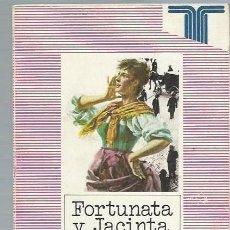 Libros de segunda mano: FORTUNATA Y JACINTA, BENITO PÉREZ GALDÓS, TAURUS MADRID 1986, RÚSTICA, 409 PÁGS, 14X22CM. Lote 44227424