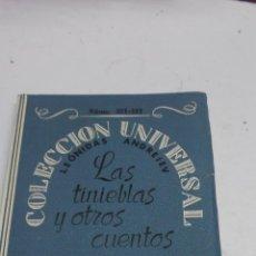 Libros de segunda mano - leonidas ANDREIEV: LAS TINIEBLAS Y OTROS CUENTOS. COLECCION UNIVERSAL, 1920, 206 PAGS. - 44786128