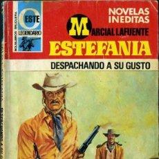 Libros de segunda mano: DESPACHANDO A SU GUSTO - AÑO 1978 - NOVELA ESTEFANIA DE BOLSILLO ORIGINAL - ES DEL OESTE. Lote 45075241