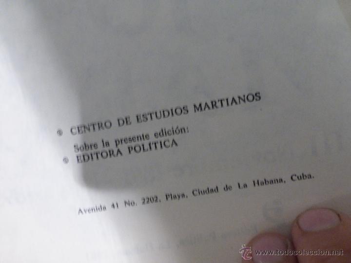 Libros de segunda mano: José Martí Obras escogidas . 3 tomos - CENTRO DE ESTUDIOS MARTIANOS - LA HABANA (CUBA) 1978 - Foto 3 - 45555650