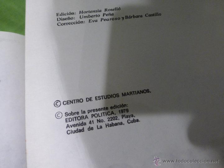 Libros de segunda mano: José Martí Obras escogidas . 3 tomos - CENTRO DE ESTUDIOS MARTIANOS - LA HABANA (CUBA) 1978 - Foto 5 - 45555650
