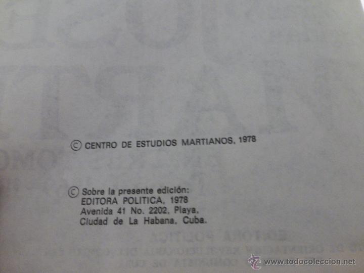 Libros de segunda mano: José Martí Obras escogidas . 3 tomos - CENTRO DE ESTUDIOS MARTIANOS - LA HABANA (CUBA) 1978 - Foto 8 - 45555650
