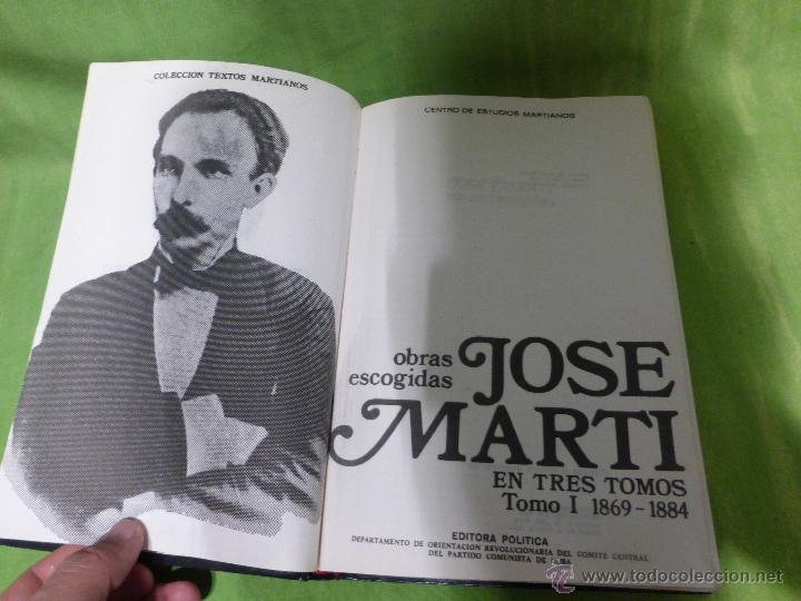 Libros de segunda mano: José Martí Obras escogidas . 3 tomos - CENTRO DE ESTUDIOS MARTIANOS - LA HABANA (CUBA) 1978 - Foto 10 - 45555650