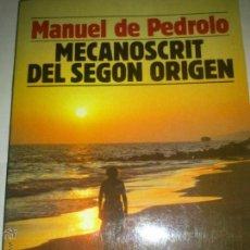 Libros de segunda mano: MANUEL DE PEDROLO MECANOSCRIT DEL SEGON ORIGEN. Lote 45662569