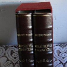 Libros de segunda mano: OBRAS PROPIAS Y TRADUCCIONES LATINAS, GRIEGAS Y ITALIANA .-FRAY LUIS DE LEÓN. Lote 56559269