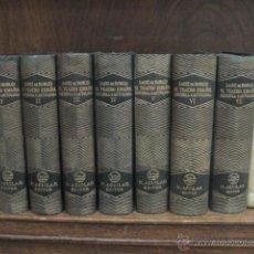 Libros de segunda mano: EL TEATRO ESPAÑOL HISTORIA Y ANTOLOGÍA, SAINZ DE ROBLES, AGUILAR , 7 TOMOS COMPLETA 1942-43. Lote 198803103