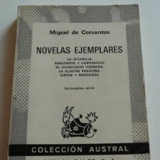 Libros de segunda mano: NOVELAS EJEMPLARES - MIGUEL DE CERVANTES (COLECCIÓN AUSTRAL Nº 29). Lote 45950675