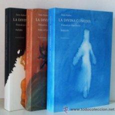 Libros de segunda mano: DIVINA COMEDIA ,DANTE ALIGHIERI,ILUSTRADO POR MIQUEL BARCELO 3 TOMOS. Lote 46061644