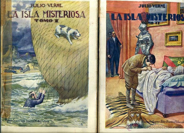 JULIO VERNE : LA ISLA MISTERIOSA - DOS TOMOS (SOPENA, 1941) (Libros de Segunda Mano (posteriores a 1936) - Literatura - Narrativa - Clásicos)