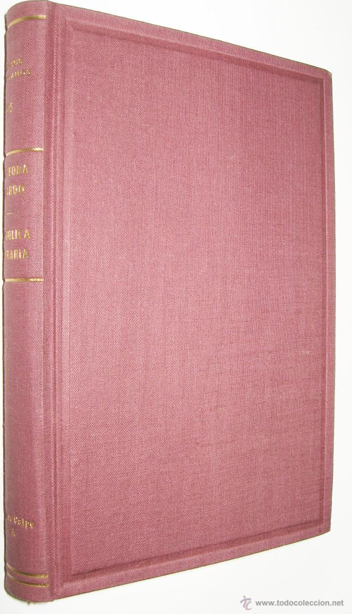 1942 REPUBLICA LITERARIA - SAAVEDRA FAJARDO * (Libros de Segunda Mano (posteriores a 1936) - Literatura - Narrativa - Clásicos)
