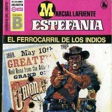 Libros de segunda mano: EL FERROCARRIL DE LOS INDIOS - AÑO 1987 - NOVELA ESTEFANIA DE BOLSILLO - ES ORIGINAL - ES DEL OESTE . Lote 128904238