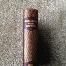 Libros de segunda mano: OBRAS COMPLETAS. TOMO 1. ANGEL GANIVET. COLECCIÓN JOYA. AGUILAR. 2ª EDICIÓN.1951. Lote 211638368