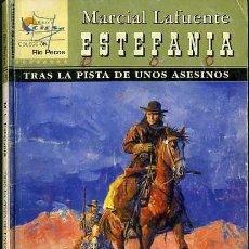 Libros de segunda mano: TRAS LA PISTA DE UNOS ASESINOS - AÑO 2002 - NOVELA ESTEFANIA DEL OESTE ES DE BOLSILLO. Lote 46375434
