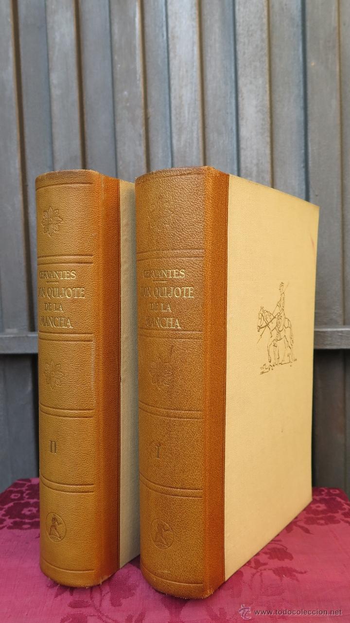 1962.- EL INGENIOSO HIDALGO DON QUIJOTE DE LA MANCHA. MIGUEL DE CERVANTES. ILUSTRADO. 2 TOMOS (Libros de Segunda Mano (posteriores a 1936) - Literatura - Narrativa - Clásicos)