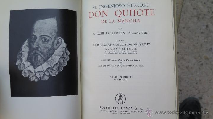 Libros de segunda mano: 1962.- EL INGENIOSO HIDALGO DON QUIJOTE DE LA MANCHA. MIGUEL DE CERVANTES. ILUSTRADO. 2 TOMOS - Foto 2 - 46426008