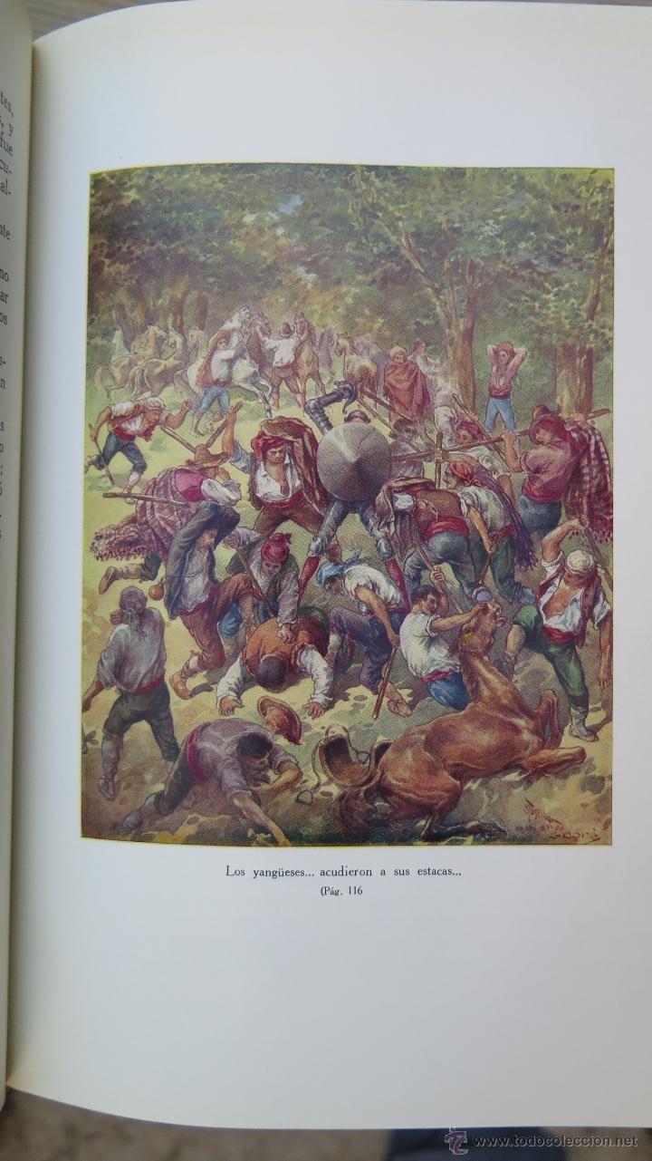 Libros de segunda mano: 1962.- EL INGENIOSO HIDALGO DON QUIJOTE DE LA MANCHA. MIGUEL DE CERVANTES. ILUSTRADO. 2 TOMOS - Foto 3 - 46426008