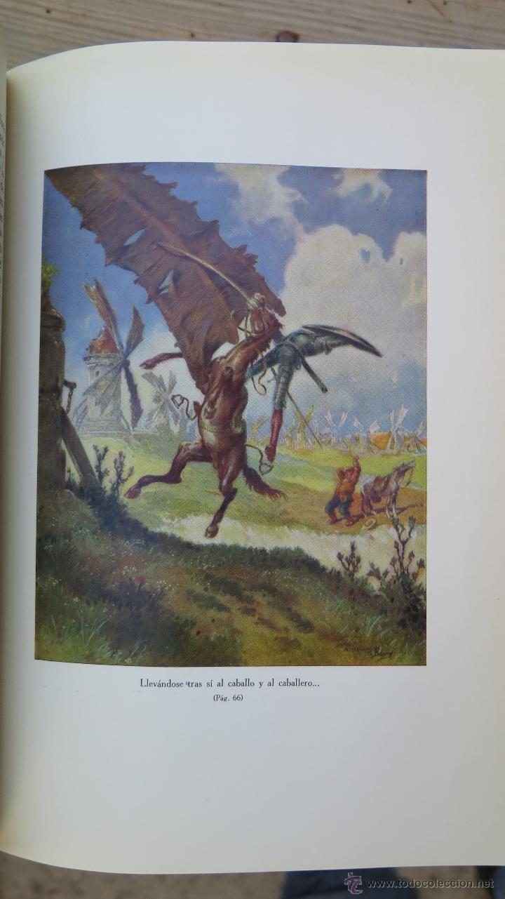Libros de segunda mano: 1962.- EL INGENIOSO HIDALGO DON QUIJOTE DE LA MANCHA. MIGUEL DE CERVANTES. ILUSTRADO. 2 TOMOS - Foto 4 - 46426008