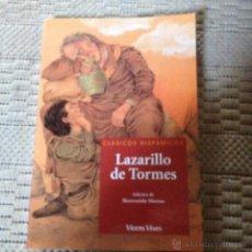 Libros de segunda mano: LAZARILLO DE TORMES CLASICOS HISPANICOS EDICION DE BIENVENIDO MORROS VICENS VIVES. Lote 100913307