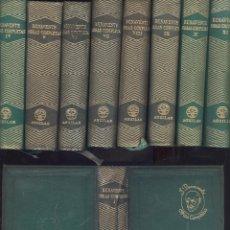 JACINTO BENAVENTE. Obras completas. 11 vols. Madrid, Aguilar, 1951-1969