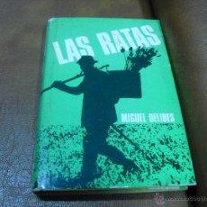Libros de segunda mano: LIBRO: LAS RATAS DE MIGUEL DELIBES. Lote 46786469