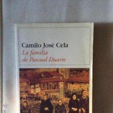 Libros de segunda mano: LA FAMILIA DE PASCUAL DUARTE CAMILO JOSE CELA. Lote 46906960