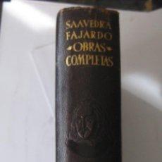 Libros de segunda mano: SAAVEDRA FAJARDO OBRAS COMPLETAS AGUILAR 1946 PRIMERA EDICION. Lote 47070274