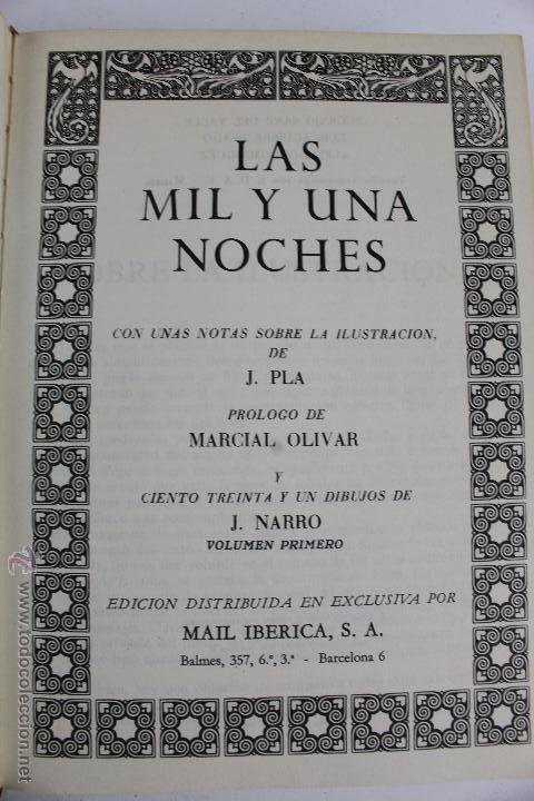 Libros de segunda mano: L- 734LAS MIL Y UNA NOCHES. 2 TOMOS. EDICION EXCLUSIVA DE MAIL IBERICA / EDAF. AÑO 1968. ILUSTRADOS. - Foto 3 - 47159050