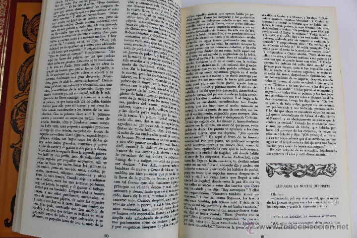 Libros de segunda mano: L- 734LAS MIL Y UNA NOCHES. 2 TOMOS. EDICION EXCLUSIVA DE MAIL IBERICA / EDAF. AÑO 1968. ILUSTRADOS. - Foto 5 - 47159050