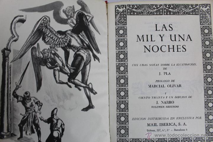 Libros de segunda mano: L- 734LAS MIL Y UNA NOCHES. 2 TOMOS. EDICION EXCLUSIVA DE MAIL IBERICA / EDAF. AÑO 1968. ILUSTRADOS. - Foto 7 - 47159050