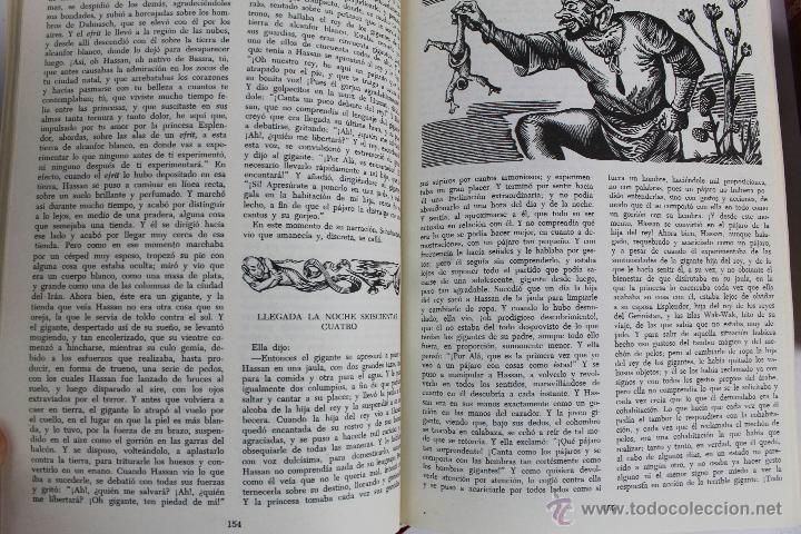 Libros de segunda mano: L- 734LAS MIL Y UNA NOCHES. 2 TOMOS. EDICION EXCLUSIVA DE MAIL IBERICA / EDAF. AÑO 1968. ILUSTRADOS. - Foto 8 - 47159050