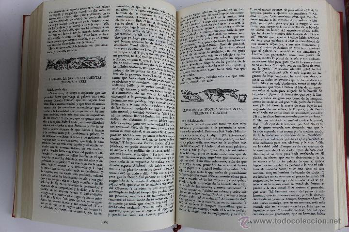 Libros de segunda mano: L- 734LAS MIL Y UNA NOCHES. 2 TOMOS. EDICION EXCLUSIVA DE MAIL IBERICA / EDAF. AÑO 1968. ILUSTRADOS. - Foto 10 - 47159050