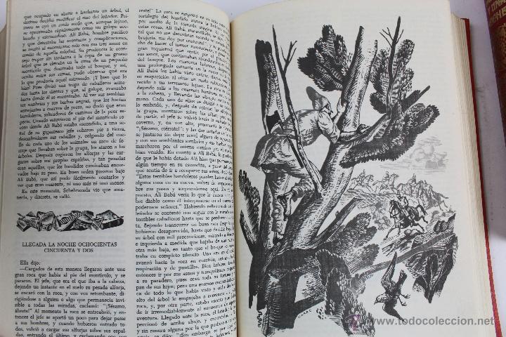 Libros de segunda mano: L- 734LAS MIL Y UNA NOCHES. 2 TOMOS. EDICION EXCLUSIVA DE MAIL IBERICA / EDAF. AÑO 1968. ILUSTRADOS. - Foto 11 - 47159050