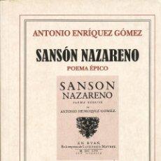 Libros de segunda mano: ANTONIO ENRÍQUEZ GÓMEZ, SANSÓN NAZARENO. POEMA ÉPICO, EDITORIAL VERBUM, MADRID, 1999. Lote 47640757