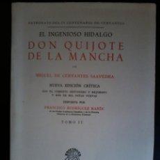 Libros de segunda mano: EL INGENIOSO HIDALGO DON QUIJOTE DE LA MANCHA (TOMO II). Lote 47918813