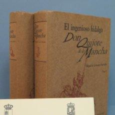 Libros de segunda mano: EL INGENIOSO HIDALGO DON QUIJOTE DE LA MANCHA. CUMPLIDO. 2 TOMOS. MEXICO. ED. FACSIMIL. Lote 49109085
