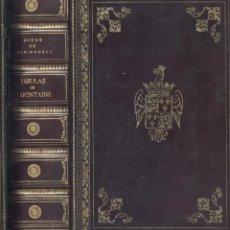 Libros de segunda mano: LA FONTAINE Y DUQUE DE MEDINACELI. FÁBULAS DE LA FONTAINE. MADRID, 1946. PRECIOSA ENCUADERNACIÓN.. Lote 49583864