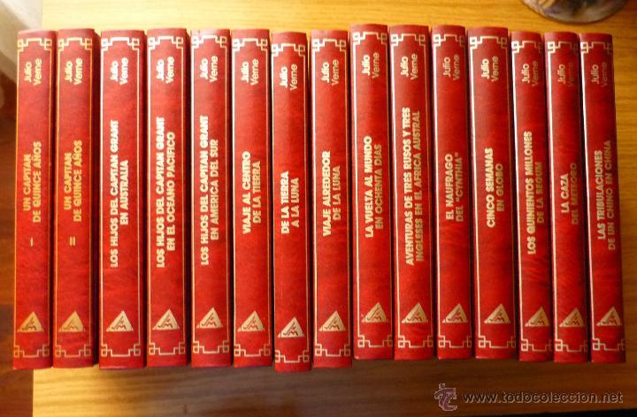 COLECCIÓN JULIO VERNE (15 TOMOS) - EDITORIAL RUEDA (AÑO 1991) (Libros de Segunda Mano (posteriores a 1936) - Literatura - Narrativa - Clásicos)