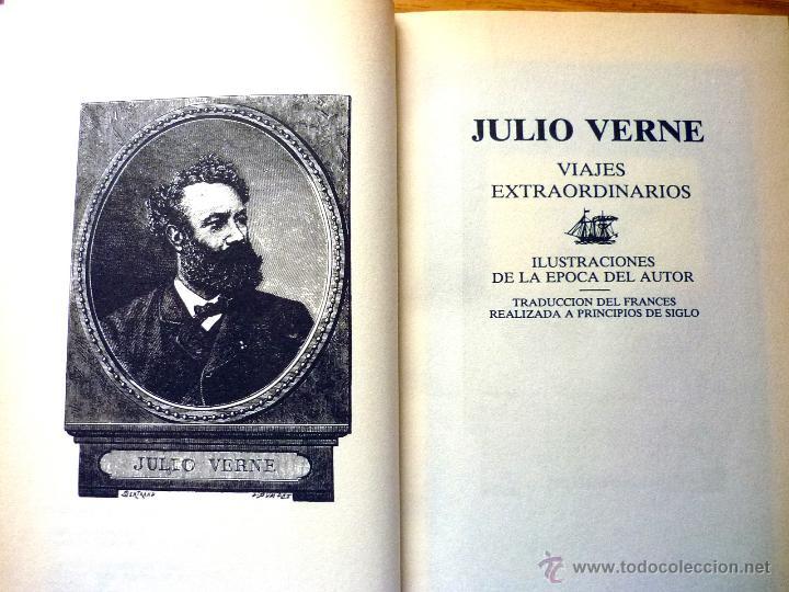 Libros de segunda mano: Colección Julio Verne (15 tomos) - Editorial Rueda (año 1991) - Foto 3 - 49866288