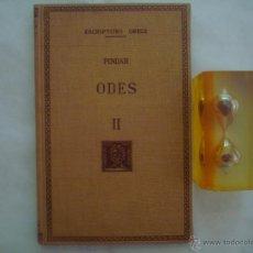 Libros de segunda mano: PINDAR. ODES. FUNDACIÓ BERNAT METGE. 1959. ESCRIPTORS GRECS. Lote 49958147