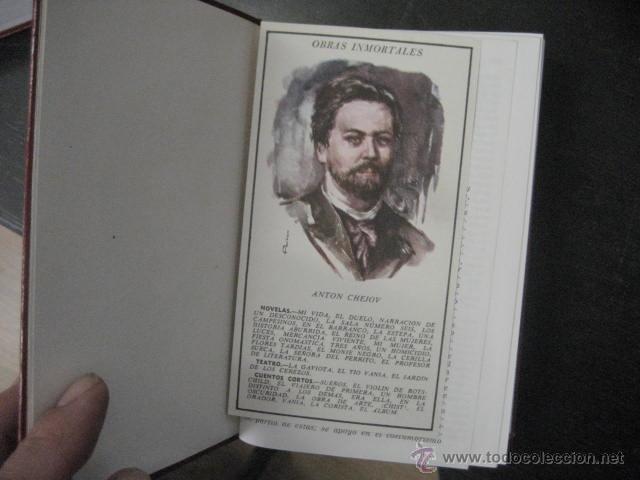 Libros de segunda mano: CHEJOV, OBRAS INMORTALES, EDAF 1965 PLENA PIEL ILUSTRADO , EN ESTUCHE, MUY BUEN ESTADO REF F3 - Foto 9 - 50104777