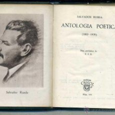 Libros de segunda mano: AGUILAR CRISOL Nº 144 - SALVADOR RUEDA : ANTOLOGÍA POÉTICA (1945) 1ª EDICIÓN. Lote 50609090