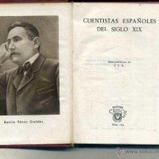 Libros de segunda mano: AGUILAR CRISOL Nº 105 - CUENTISTAS ESPAÑOLES DEL SIGLO XIX (1945) 1ª EDIC. Lote 50620662