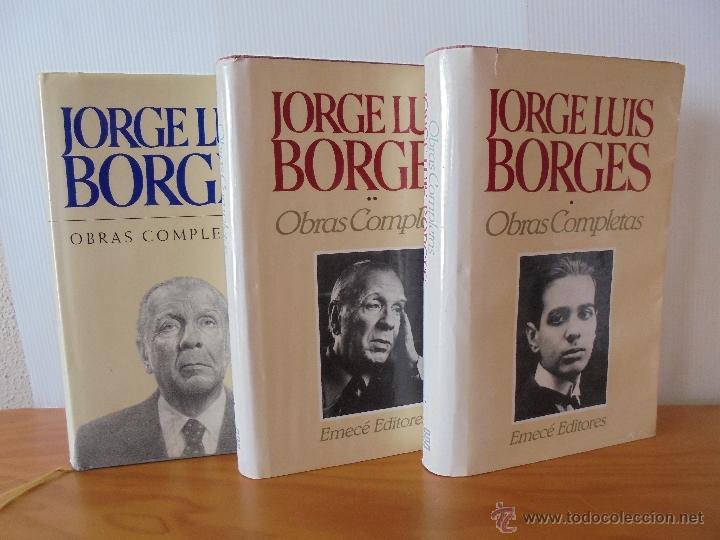 Libros de segunda mano: JORGE LUIS BORGES. OBRAS COMPLETAS. TOMOS I, II Y IV. ED. EMECE. VER FOTOGRAFÍAS. - Foto 2 - 57317467