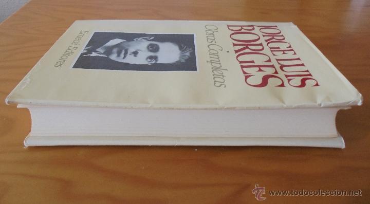 Libros de segunda mano: JORGE LUIS BORGES. OBRAS COMPLETAS. TOMOS I, II Y IV. ED. EMECE. VER FOTOGRAFÍAS. - Foto 5 - 57317467