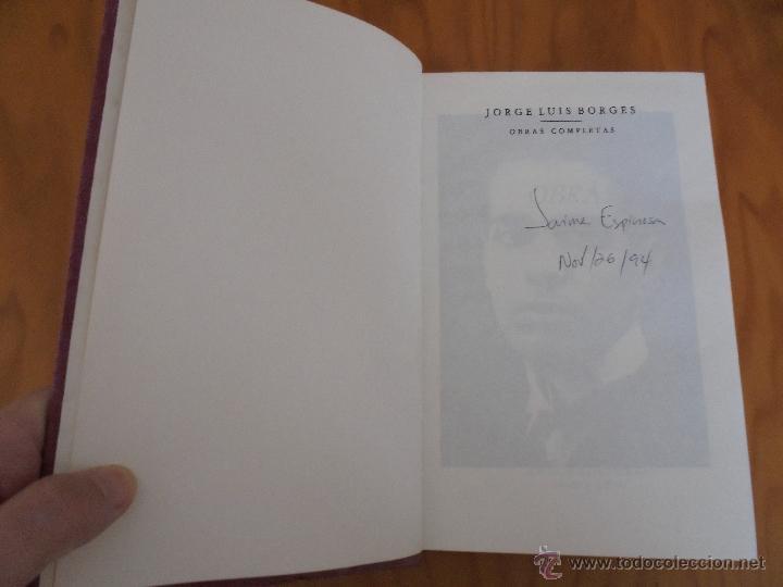 Libros de segunda mano: JORGE LUIS BORGES. OBRAS COMPLETAS. TOMOS I, II Y IV. ED. EMECE. VER FOTOGRAFÍAS. - Foto 10 - 57317467