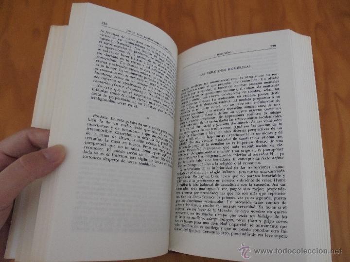 Libros de segunda mano: JORGE LUIS BORGES. OBRAS COMPLETAS. TOMOS I, II Y IV. ED. EMECE. VER FOTOGRAFÍAS. - Foto 25 - 57317467