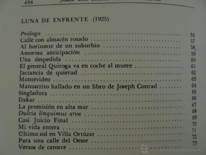 Libros de segunda mano: JORGE LUIS BORGES. OBRAS COMPLETAS. TOMOS I, II Y IV. ED. EMECE. VER FOTOGRAFÍAS. - Foto 29 - 57317467