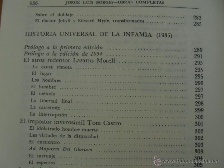Libros de segunda mano: JORGE LUIS BORGES. OBRAS COMPLETAS. TOMOS I, II Y IV. ED. EMECE. VER FOTOGRAFÍAS. - Foto 33 - 57317467