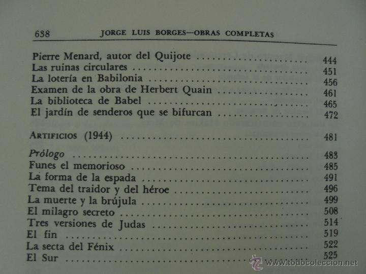 Libros de segunda mano: JORGE LUIS BORGES. OBRAS COMPLETAS. TOMOS I, II Y IV. ED. EMECE. VER FOTOGRAFÍAS. - Foto 37 - 57317467