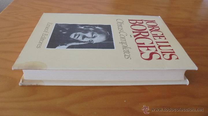 Libros de segunda mano: JORGE LUIS BORGES. OBRAS COMPLETAS. TOMOS I, II Y IV. ED. EMECE. VER FOTOGRAFÍAS. - Foto 42 - 57317467